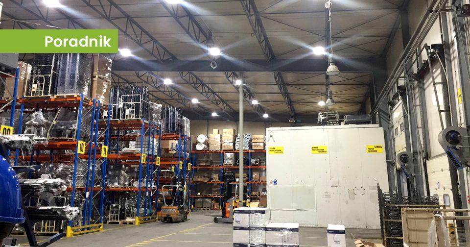 Oświetlenie LED na hali produkcyjnej